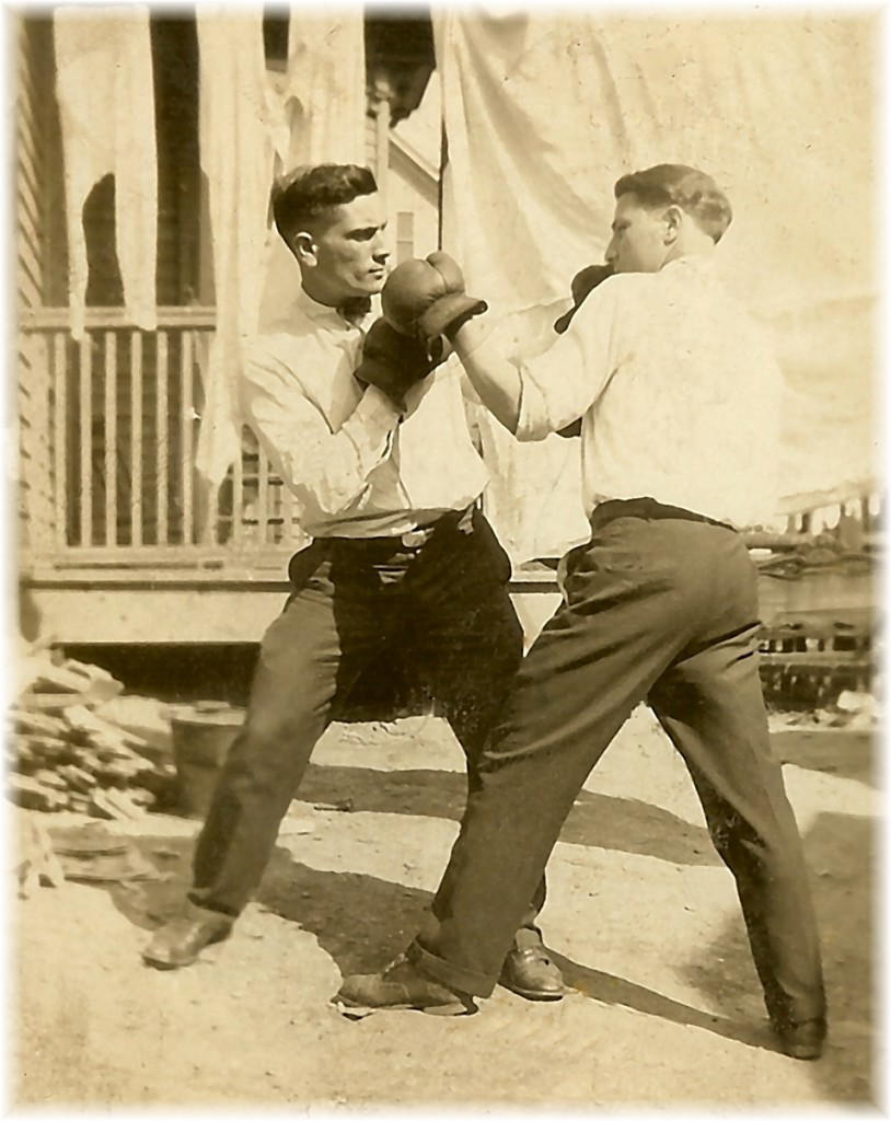 Grandpa Boxing His Brother