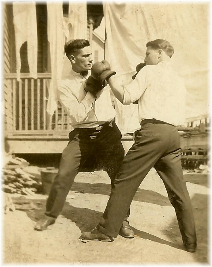 Grandpa Boxing His Brother