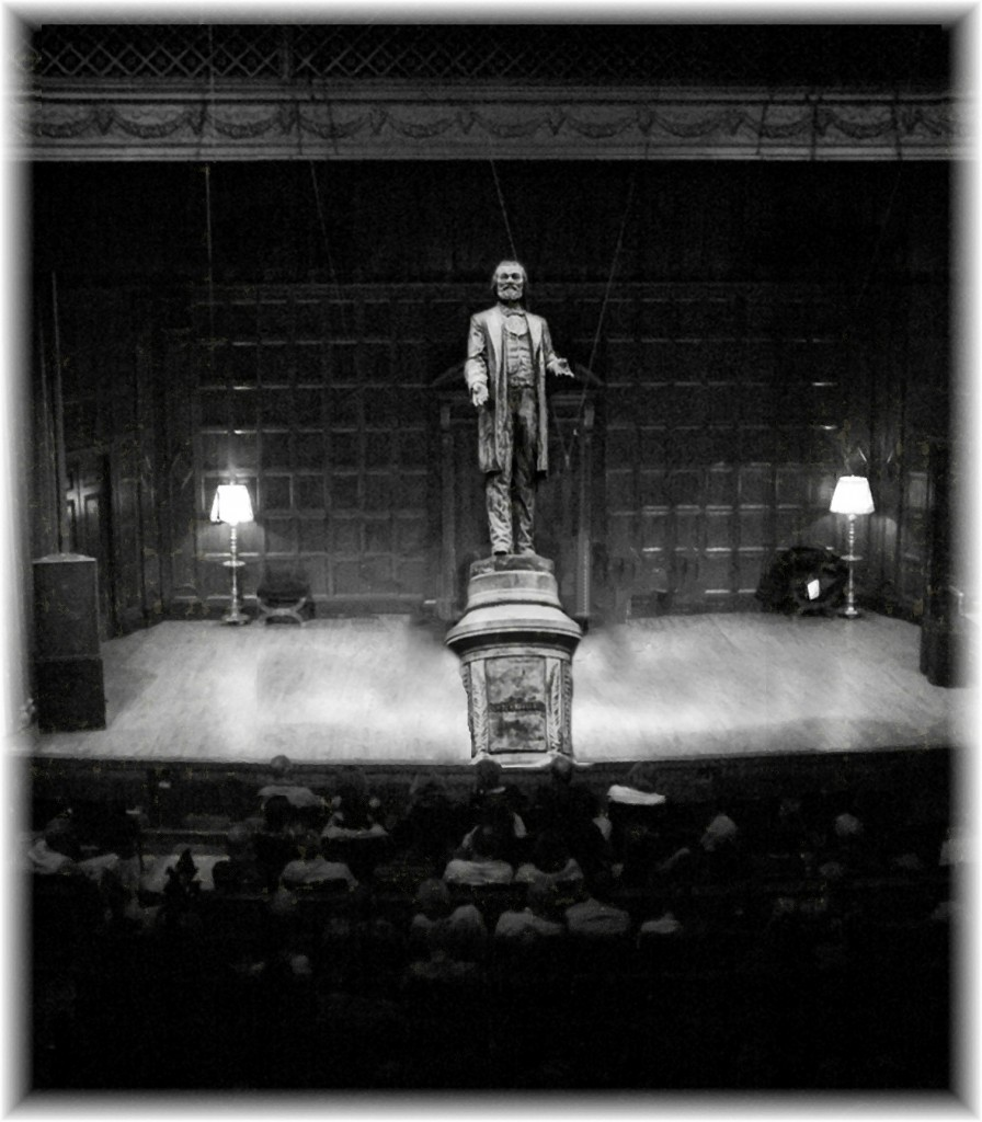 Fantasy of Frederick Douglas Memorial onstage at Kilbourn Hall - Click for Larger View